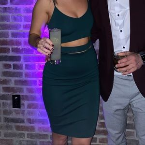 Cut out Green cocktail dress
